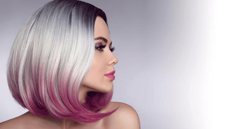 purple haor ombre color tips