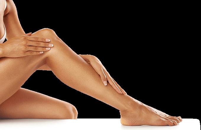 sprey tanned legs